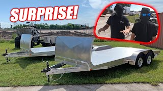 Surprising My Guys With SWEET New Aluminum Car Trailers! (1.5 Million Subscribers Celebration)