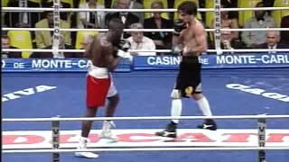 Filip Bafounta combat de boxe anglaise professionnel à Monté Carlo