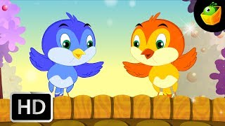 Two Little Dicky Birds - English Nursery Rhymes - Cartoon/Animated Rhymes For Kids