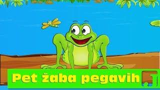 Pet žaba pegavih | Dečije pesme | Five Little Speckled Frogs | Jaccoled
