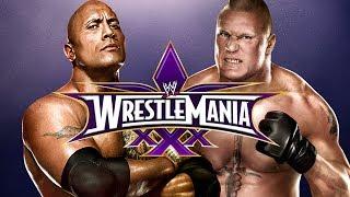 WWE 2K14 - The Rock vs Brock Lesnar at Wrestlemania 30 (Epic Match)