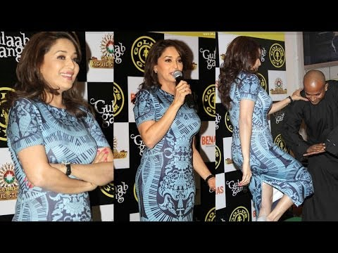 Madhuri Dixit in Sexy Body Fit dress at Gold's Gym
