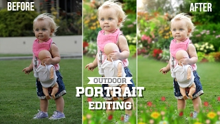 Photoshop CC Tutorial : How to Edit Outdoor Portrait | Blur & change Background