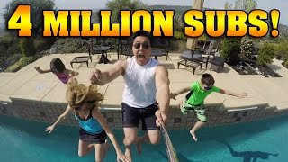 4 MILLION SUBSCRIBERS!!! Polar Plunge & Giant Banana Split!