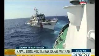 Video Kapal Perang Tiongkok Tabrak Kapal Perang Vietnam