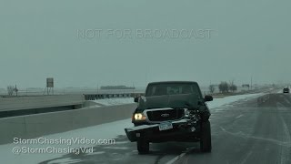 Southern, MN I-90 Crash And Heavy Snow - 12/10/2016