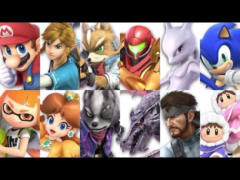 Super Smash Bros Ultimate All 68 Characters Gameplay Showcase