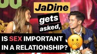 """JADINE gets asked, """"Is SEX important in a relationship?""""   JAMES Reid & NADINE Lustre react"""