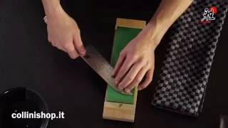 Zwilling Miyabi knives - how to use a sharpening stone