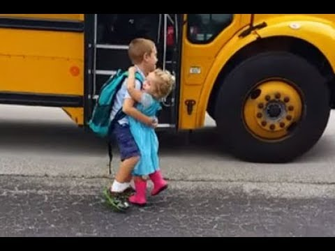 Xxx Mp4 Cute Babies Waiting Big Brother And Sister Go Home Back On The School Bus Compilation 3gp Sex