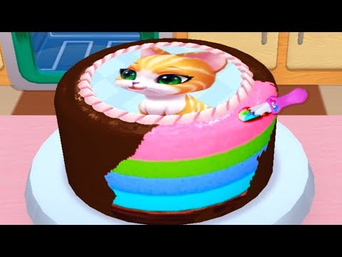 Play Fun Cake Maker Kids Cooking Game Bakery Empire Baby Learn Colors Bake Decorate Serve Cakes