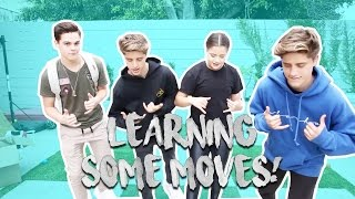 TEAM 10 LEARNS TO DANCE w/ Tessa Brooks, Martinez Twins, and AJ Mitchell