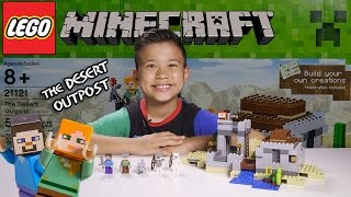 THE DESERT OUTPOST - LEGO MINECRAFT Set 21121 - Unboxing, Review, Time-Lapse Build