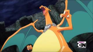 Mega Charizard X & Mega Metagross Vs Mega Rayquaza