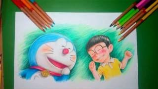 Doraemon Stand By Me : Speed Drawing Doraemon And Nobita