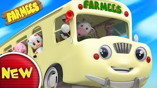 Wheels On The Bus Go Round And Round   Nursery Rhymes For Kids   Children Songs