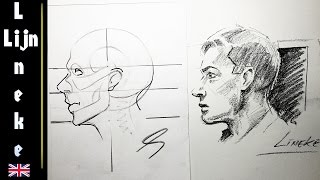 Drawing the Male FACE for beginners from the side - Part 2 Profile