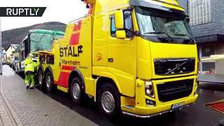 إصابة 50 شخصا جراء اصطدام حافلة أطفال بمبنى سكني في ألمانيا