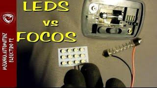 Cambio de foco regular a luces LED y comparacion de consumo y luminosidad