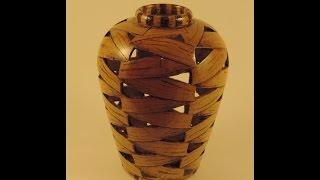 Open weave maple vase