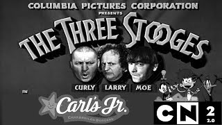 Three Stooges - Carl Jr's Commercial (1998) RARE
