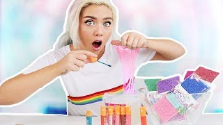 MIXING MAKEUP AND FLOAM INTO CLEAR SLIME! Satisfying Slime | NICOLE SKYES