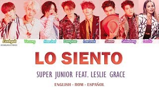 SUPER JUNIOR - LO SIENTO (Feat. Leslie Grace) Lyrics: Español - Rom- English