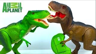 TIRANOSAURIO REX POR CONTROL REMOTO ANIMAL PLANET RC T-REX BATALLA DE DINOSAURIOS - DINOSAUR FIGHT