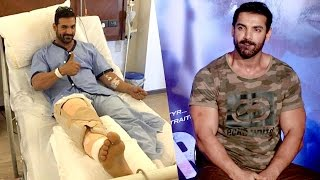 John Abraham Knee Surgery Injured On Force 2 Sets