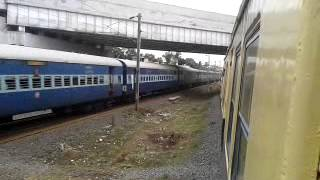 16106 TCN - MS Chendur Express xings with EMU with RPM WAP-1 in lead