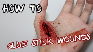 Homemade DIY fake wounds with glue sticks