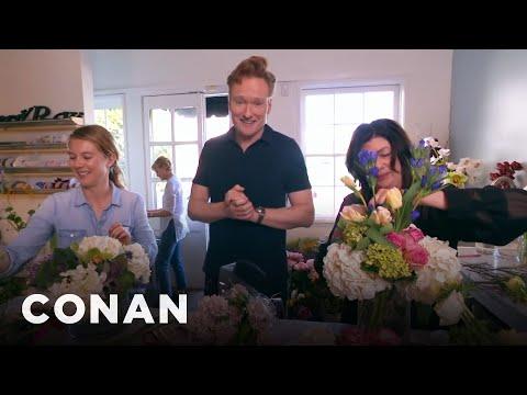 Conan Delivers Valentine s Day Bouquets