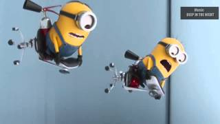 BMW VS Mercedes-Benz of minions / Music  DEEP IN THE NIGHT /