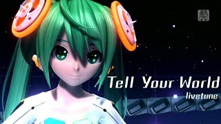 [60fps Full風] Tell Your World -Hatsune Miku 初音ミク Project DIVA Arcade English lyrics Romaji subtitles