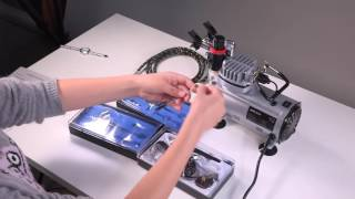 KKmoon Airbrush Kit With Air Compressor Dual-Action Hobby Spray Air Brush Set Supply Cleaning Brush