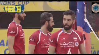 Saeid Marouf | setter dump | Iran vs USA 2017 Men