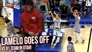Chino Hills VS #1 Utah Team! LaMelo ON FIRE w/ Lonzo Watching! Chino Hills VS Wasatch Academy