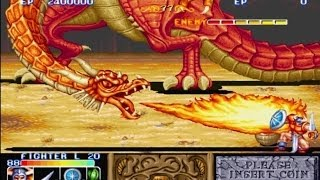The King of Dragons (arcade) Fighter Hardest Level 1 Wapon no death Playthrough