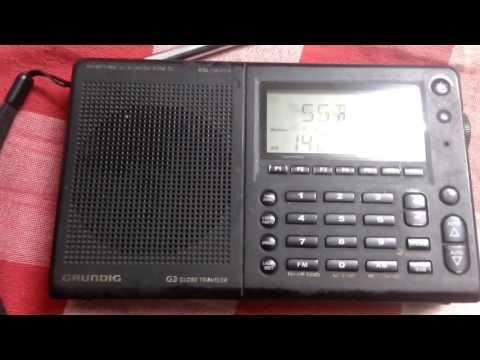 GRUNDIG G3 Lovely Little RADIO Catching Two Indian HAM Radio operator's QSO