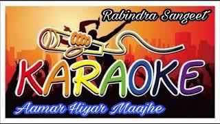 Aamar Hiyar Majhe| আমার হিয়ার মাঝে | Bangla Karaoke Song | Krishna Music | Rabindra Sangeet