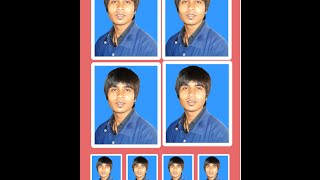 Bangla Tutorial How to create a passport size photo in photoshop 7.0 cs6 cs5 cs4 cs3 cs2