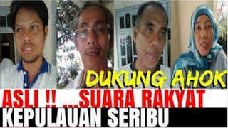 Warga Kep Seribu berbondong2 mendukung AHOK karena di bilang tidak berIMAN