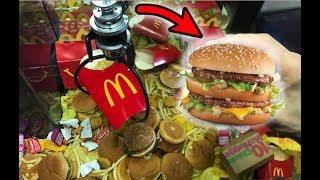 WON McDonald's FOOD FROM THE CLAW MACHINE! | JOYSTICK