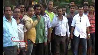 People in Mahanga burn effigy of law minister Pratap Jena