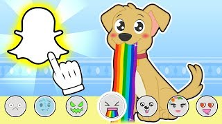 BABY PETS 👻📱 Max takes pictures using Snapchat | Cartoons for Children