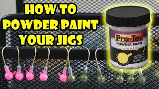 How to Powder Paint Jig Heads with Pro-Tec T-Day Ep. 1 (DIY At Home)
