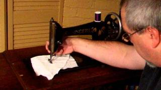 1905 Vintage Singer Sewing Machine in operation