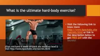 jillian michaels 6 week six-pack abs workout level 2