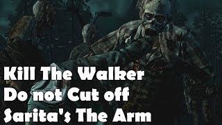Kill the Walker do not cut off Sarita's Arm Hand The Walking Dead Season 2 Episode 3 In Harm's Way