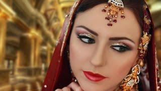 Gold and Silver Glitter Makeup - Indian Asian Pakistani Traditional Bridal Makeup Tutorial
